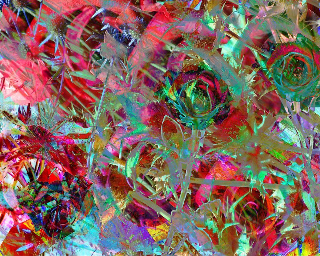 A Dozen Roses digital painting by Susan Harman