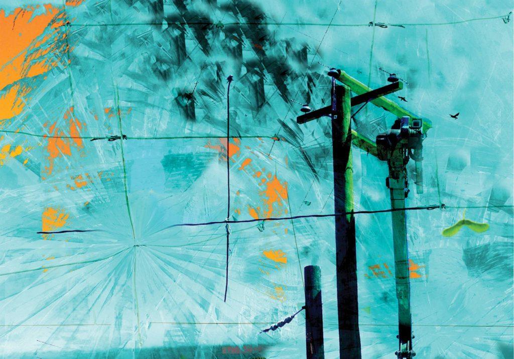 Gravity: digital painting by artist Susan Harman