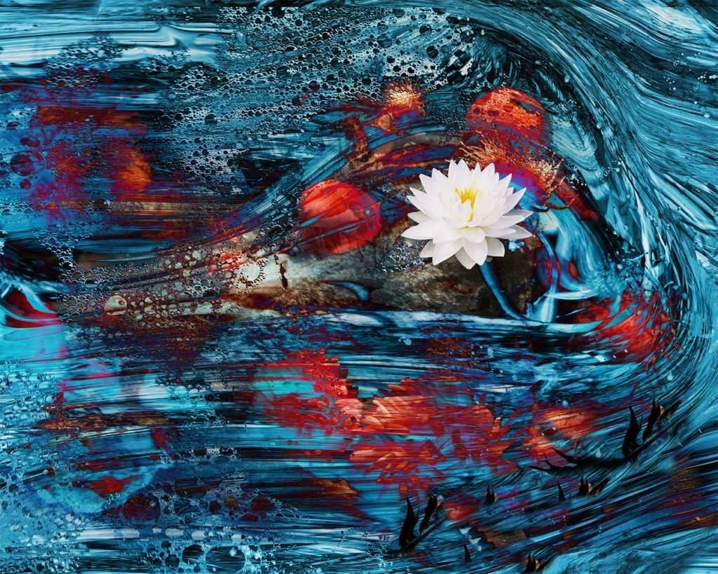 The Heart is 73% Water digital painting by Susan Harman