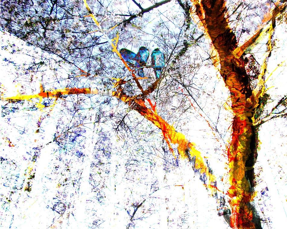 The Trinity Tree digital painting by Susan Harman